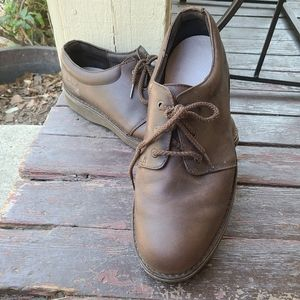 Rockport Men's Brown Leather Tie Up Shoes | 12
